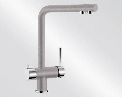 Blanco FONTAS Silgranit-look dvoubarevná aluminium/chrom 518504