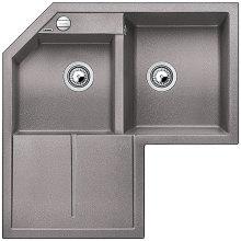 Blanco METRA 9 E Silgranit aluminium s excentrem 515557
