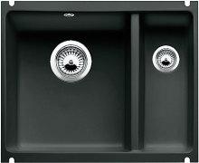 Blanco SUBLINE 350/150 U Keramika černá  s táhlem dřez vlevo 514531