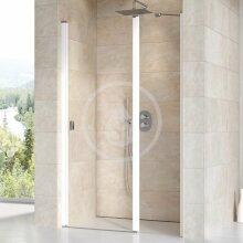 Sprchové dveře dvoudílné CSD2-100, 975-1005 mm, bílá/čiré sklo