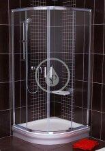 Sprchový kout čtvrtkruhový BLCP4-90, 880-900 mm, bílá/čiré sklo