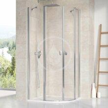 Čtvrtkruhový sprchový kout CSKK4-80, 780-800 mm, lesklý hliník/čiré sklo