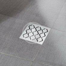Plastová podlahová vpusť s nerezovou mřížkou SN501, 105 mm
