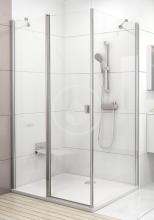 Pevná boční stěna CPS-80, 780-800 mm, lesklý hliník/čiré sklo