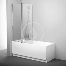 Vanová zástěna dvoudílná CVS2, levá, 990x1500 mm, lesklý hliník/transparentní sklo