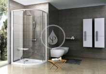 Čtvrtkruhový sprchový kout PSKK3-80, 770-795 mm, bílá/chrom/čiré sklo