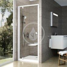 Sprchové dveře PDOP1-80, 761-811 mm, bílá/chrom/čiré sklo