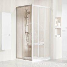 Sprchová stěna APSS-75, 720-755 mm, satin/čiré sklo
