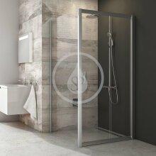 Sprchová stěna BLPS-80, 770-790 mm, lesklý hliník/čiré sklo