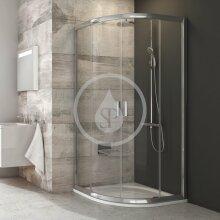 Čtvrtkruhový sprchový kout čtyřdílný BLCP4-80, 780-800 mm, lesklý hliník/čiré sklo