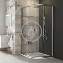 Čtvrtkruhový sprchový kout čtyřdílný BLCP4-80, 780-800 mm, satin/čiré sklo