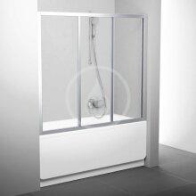 Vanové dveře třídílné AVDP3-120, 1170-1210 mm, satin/čiré sklo