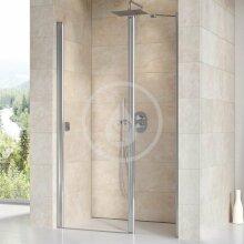 Sprchové dveře dvoudílné CSD2-100, 975-1005 mm, lesklý hliník/čiré sklo