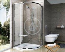 Čtvrtkruhový sprchový kout PSKK3-80, 770-795 mm, satin/čiré sklo