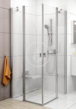 Sprchové dveře CRV2-110, 1080-1100 mm, lesklý hliník/čiré sklo