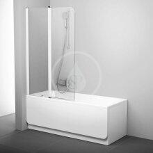 Vanová zástěna dvoudílná CVS2, levá, 990x1500 mm, bílá/transparentní sklo