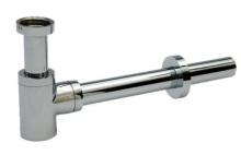 Celomosazný sifon CHROM - nízký kulatý DN 32 kovový