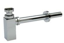 """Celomosazný sifon CHROM 32x5/4"""" čtyřhraný celokovový"""