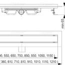 ALCAPLAST APZ106-PROFI-1150 LOW - sprchový odtokový žlab
