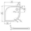 vanička z litého mramoru 90cm čtvrtkruh R550 - ROLTECHNIK DREAM-M - SANIPRO /900