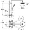 GROHE EUPHORIA Sprchový systém 180 mm, chrom 27296000