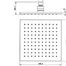 Hlavová horní sprcha 20x20cm - čtvercová horní sprcha ARTTEC TS804