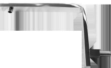 Celokovový držák hlavové sprchy zvýšený BAGW17