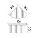Nimco - Axis - Drátěná rohová polička - AX 506-26