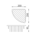 Nimco - Bond - Drátěná rohová polička - BO 303N-26