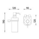 Nimco - Bormo - Dávkovač tekutého mýdla - BR X3-31W-26
