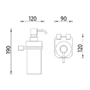 Nimco - Bormo - Dávkovač tekutého mýdla, pumpička plast - BR X3-31W-26