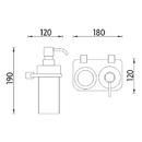 Nimco - Bormo - Dvojitý držák dávkovače a sklenky - BR X3-5831W-26