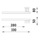 Nimco - Keira - Držák na ručníky levý do zdi - KE 22060L-26