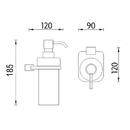 Nimco - Kibo  - Dávkovač tekutého mýdla, pumpička plast - Ki X3-31W-26