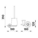 Nimco - Lada staroměď - Toaletní WC kartáč - LA 19094K-80