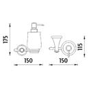 Nimco - Lada staromosaz - Dávkovač tekutého mýdla, pumpička plast - LA 19031K-65