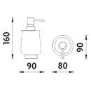 Nimco - Lada stojánková - Dávkovač tekutého mýdla - 1031LA-65
