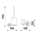 Nimco - Lada - Toaletní WC kartáč - LA 19094K-26