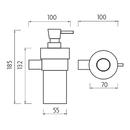 Nimco - Nava ixi - Dávkovač tekutého mýdla - NA 28031W-T-b