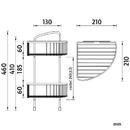Nimco - Open - Drátěná rohová police dvoupatrová - OP 121D-26