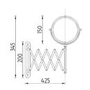 Nimco - Série 3900 - Kosmetické zvětšovací zrcátko - ZR 3992B-26