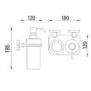 Nimco - Uni - Držák sklenky a dávkovače - UN X3-5831W-26