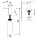 Nimco - Vestavěný dávkovač tekutého mýdla -  - UN 2031V-26