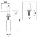 Nimco - Vestavěný dávkovač tekutého mýdla -  - UN 4031V-26