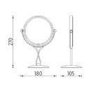Nimco - Zrcadlo - Kosmetické zvětšovací zrcátko - ZR 3892A-26