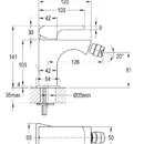 Novaservis Bidetová baterie s výpustí KVADRO chrom 35011,0
