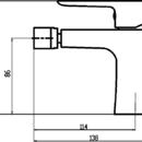 Novaservis Bidetová baterie s výpustí Nobless Tina bílá/chrom 38011,1