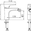 Novaservis Bidetová baterie s výpustí Nobless Wat chrom 39011,0