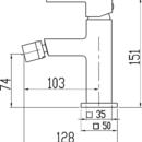 Novaservis Bidetová baterie s výpustí Titania CUBE chrom 98811,0