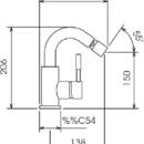 Novaservis Bidetová baterie s výpustí Tower Tech chrom 12611,0